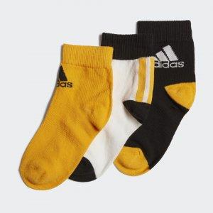 Три пары носков Ankle Performance adidas. Цвет: черный