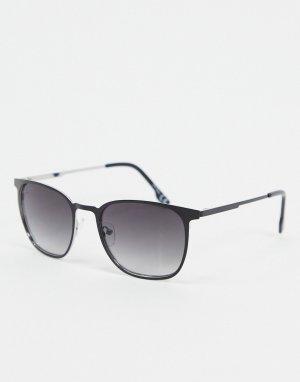 Круглые солнцезащитные очки в черной оправе -Черный цвет Jeepers Peepers