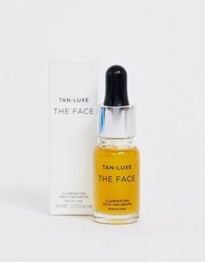 Средство для автозагара 10 мл от среднего до темного оттенка  Face-Бесцветный Tan Luxe