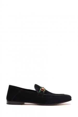 Черные лоферы с пряжкой Horsebit Gucci. Цвет: черный
