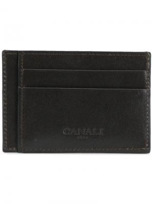 Logo cardholder wallet Canali. Цвет: коричневый