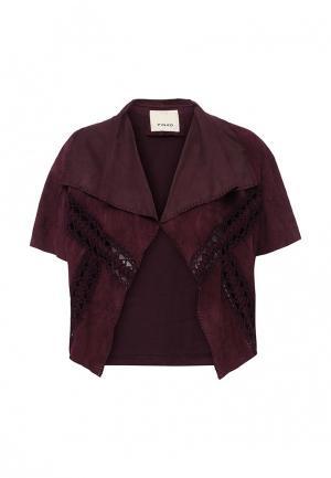 Куртка кожаная Pinko. Цвет: фиолетовый