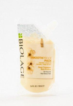 Маска для волос Matrix концентрат Biolage Smoothproof  глубокого восстановления непослушных волос, 100 мл. Цвет: прозрачный
