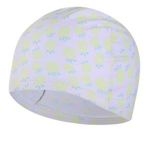 Плавательная шапочка с ананасовым принтом для девочек SHEIN. Цвет: белые