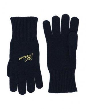 Перчатки RAF SIMONS. Цвет: темно-синий
