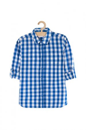 Рубашка для мальчиков 5.10.15.. Цвет: голубой