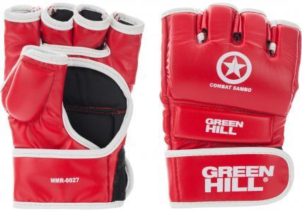 Перчатки Combat Sambo, размер 12 Green Hill. Цвет: красный