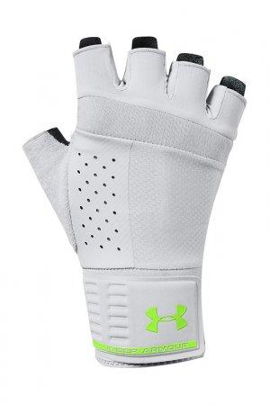 Перчатки для тренировок Under Armour. Цвет: белый