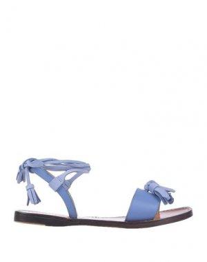 Сандалии LONGCHAMP. Цвет: пастельно-синий
