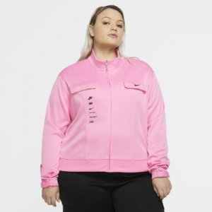 Женская куртка из полиэстера Nike Sportswear Swoosh (большие размеры) - Розовый