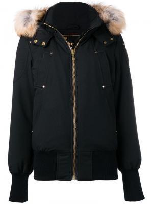 Куртка-бомбер свободного кроя Moose Knuckles. Цвет: черный