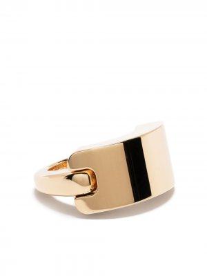 Позолоченное серебряное кольцо Bottega Veneta. Цвет: золотистый