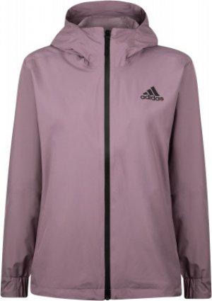 Ветровка женская adidas 3-Stripes RAIN.RDY, размер 42-44. Цвет: фиолетовый