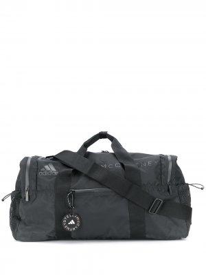 Дорожная сумка с логотипом adidas by Stella McCartney. Цвет: черный