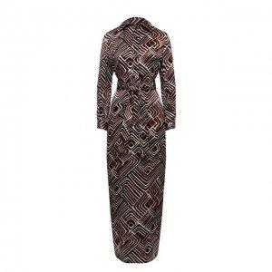Шелковое платье Kiton. Цвет: коричневый