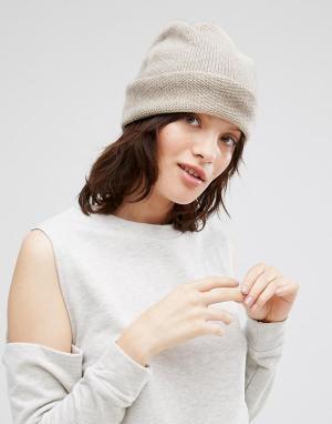 Кашемировая шапка Johnstons. Цвет: кремовый