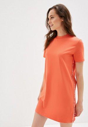 Платье Calvin Klein Jeans. Цвет: коралловый
