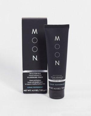 Отбеливающая зубная паста для удаления пятен без фтора , 119 г-Бесцветный Moon