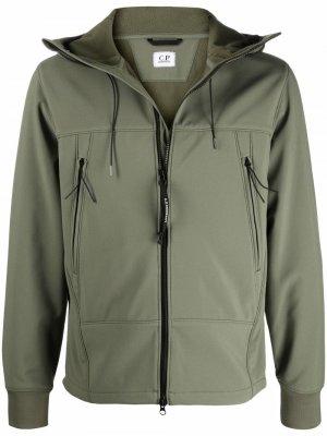 Куртка на молнии с капюшоном C.P. Company. Цвет: зеленый
