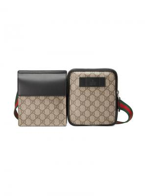 Поясная сумка с узором GG Supreme Gucci. Цвет: нейтральные цвета