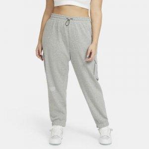 Женские брюки Nike Sportswear Swoosh (большие размеры) - Серый