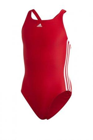 Купальник FIT JAM 3S Y adidas. Цвет: красный