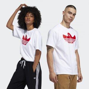 Футболка Shmoo Graphic (Унисекс) Originals adidas. Цвет: белый