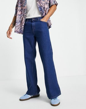 Ярко-синие расклешенные джинсы -Голубой Topman