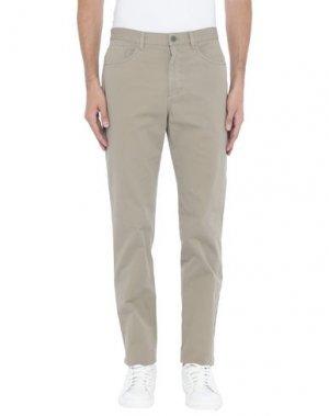 Повседневные брюки AQUASCUTUM. Цвет: хаки