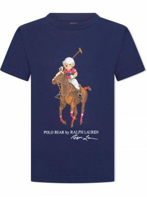Polo bear T-shirt Ralph Lauren Kids. Цвет: синий
