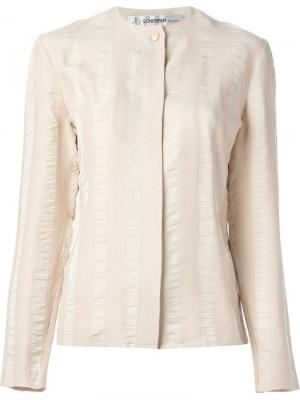Блузка из крепа в полоску Jean Louis Scherrer Pre-Owned. Цвет: розовый