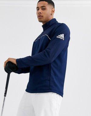 Темно-синяя куртка с молнией 1/4 -Темно-синий adidas Golf