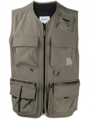 Жилет Elmwood с карманами Carhartt WIP. Цвет: зеленый