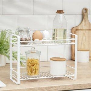 Полка кухонная для банок и специй 31х13х23 см, цвет белый Доляна