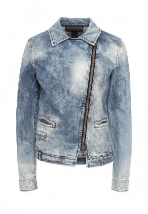 Куртка джинсовая Trussardi Jeans TR016EWOOP55. Цвет: голубой