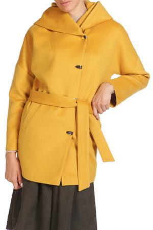 Пальто Анора. Цвет: желтый