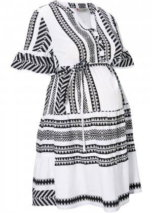 Платье для беременных bonprix. Цвет: черный