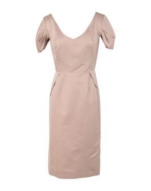Платье до колена 6267. Цвет: голубиный серый