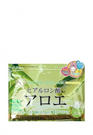 Набор масок для лица Japan Gals натуральных с экстрактом алоэ, 30 шт