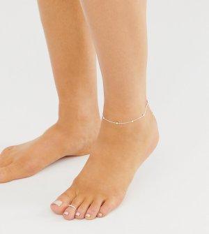 Серебряный набор из 2 предметов (браслет и кольцо на ногу) ASOS DESIGN