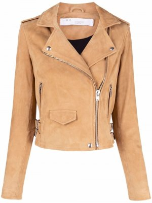 Байкерская куртка с косой молнией IRO. Цвет: нейтральные цвета