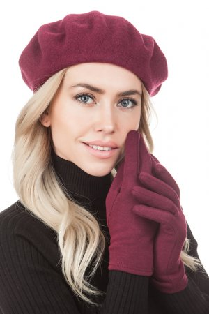 Комплект: берет, перчатки Tonak. Цвет: винный
