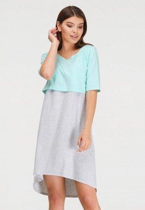 Платье домашнее Proud Mom. Цвет: серый