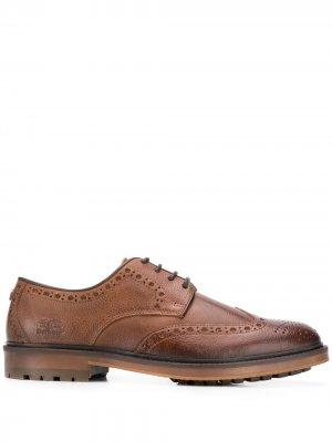 Броги на шнуровке Barbour. Цвет: коричневый
