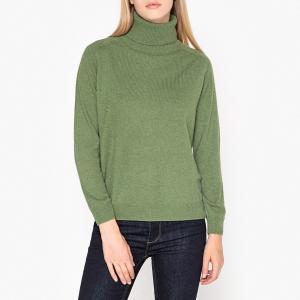 Пуловер-водолазка из тонкого трикотажа кашемира AUCHAUD PAUL & JOE SISTER. Цвет: зеленый
