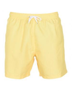 Шорты для плавания FRANKS. Цвет: желтый