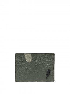 Картхолдер с камуфляжным принтом Neil Barrett. Цвет: зеленый