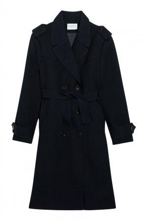 Темно-синее пальто Claudie Pierlot. Цвет: синий