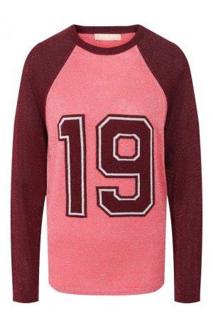 Пуловер из вискозы Michael Kors Collection. Цвет: розовый