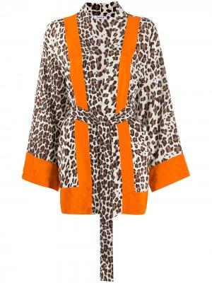 Кимоно с леопардовым принтом P.A.R.O.S.H.. Цвет: нейтральные цвета